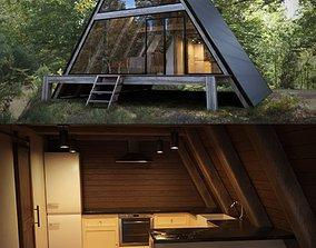 3D A-Frame Cabin