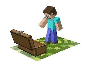 Minecraft Sad Steve 3D