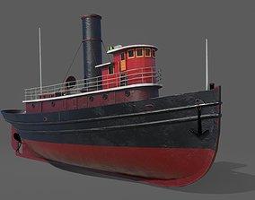 3D model Old harbor tugboat