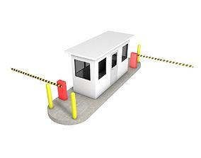 Guard Booth Street 3D asset