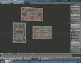 Old russian banknotes 3D model