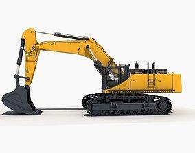 Excavator digger tractor 3D model