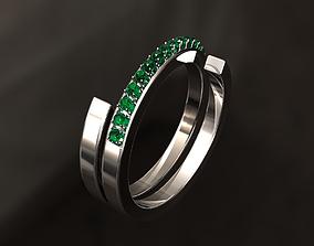 3D printable model H Ring