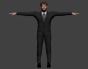 Middle age lawyer 3D asset rigged