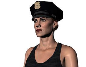 3D asset Maria a cop