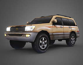 3D model Low Poly 100 Series Landcruiser