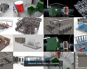 Industrial boiler rooms 3D model