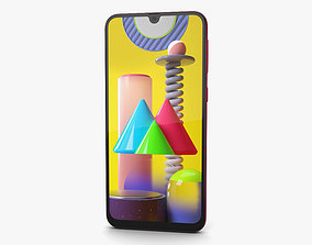 3D model Samsung Galaxy M31 Red