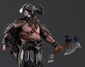 3D asset Barbarian - Game charakter