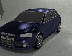 3d Audi a3 lowpoly car