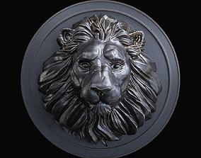 3D print model gold Lion Head Pendant