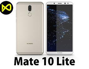 3D model Huawei Mate 10 Lite Gold