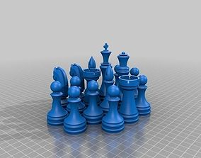 Chess Set 3D printable model boardgame