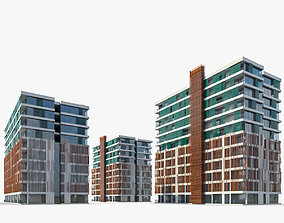 3D model Apartment Buildings 01