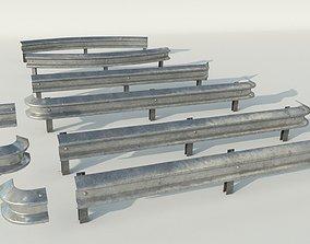 3D model Road fence kit