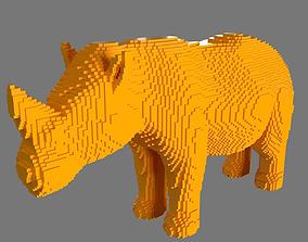 3D print model AS LowRez Series - Rhino