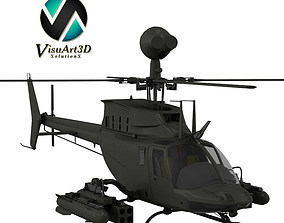 Helicopter Bell OH-58 Kiowa Warrior 3D model