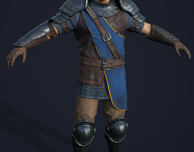 low-poly Knight 3D model realtime