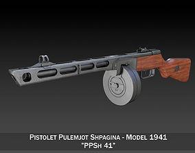 PPSh-41 - Soviet Submachine Gun soviet 3D model