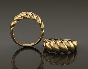 3D print model Croissant Ring Band Mix Size