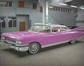 3D model Cadillac coupe de ville 1959 blender