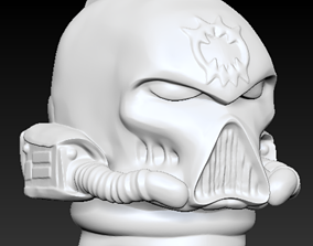 3D print model space bite helmet