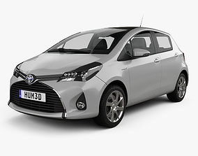 3D model Toyota Yaris Hybrid 5-door 2015
