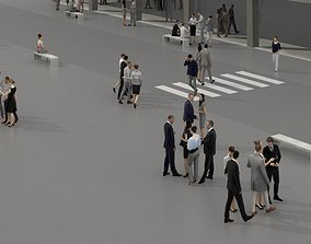 VR / AR ready 3D PEOPLE CROWDS- OFFICE BUILDING - 2