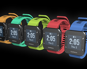 3D asset Garmin running watch