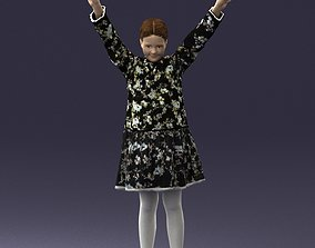 Girl in dress in the winners pose 0098 3D Print Ready