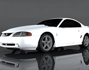 3D model 1995 Ford Mustang