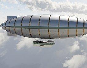 Steampunk airship 3D model PBR