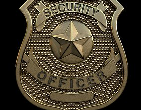 3D print model Security Officer Badge