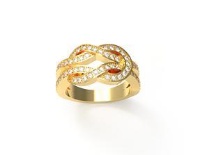 Infinite fred diamond ring 3D printable model