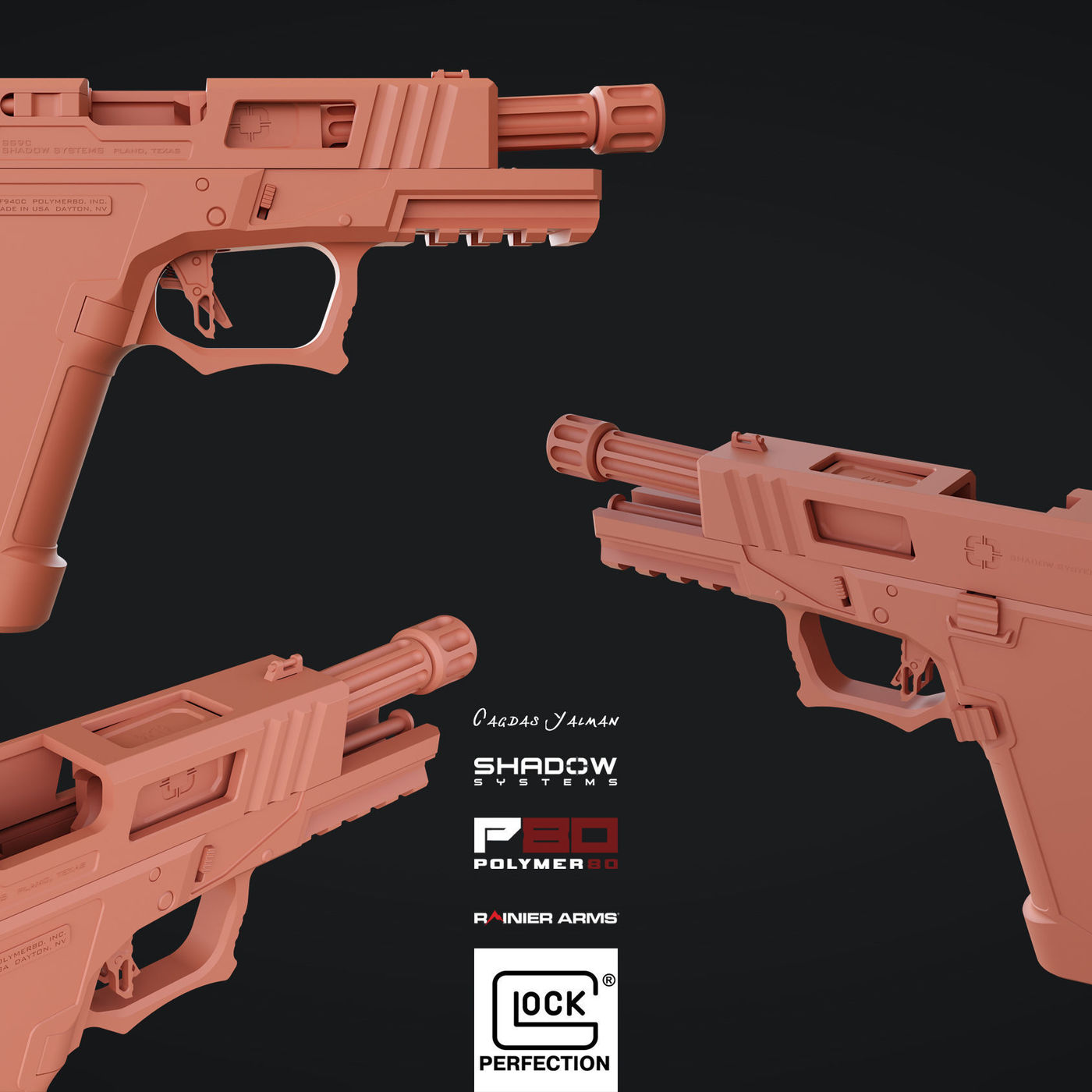 Glock Custom Shadow System Corps 3D model