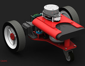 3 wheels Raspberry robot with Lidar and 3D print model 1