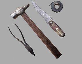 craft tools 3D model low-poly