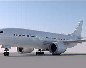 Boeing 777-300ER Model- Cinema 4d -CUSTOMIZABLE-