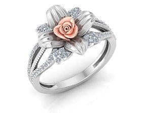 3D print model Rose Ring 18