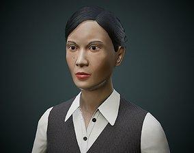 Japanese Office Lady 3D asset