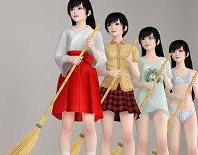 3D model Terumi various outfit pose 01