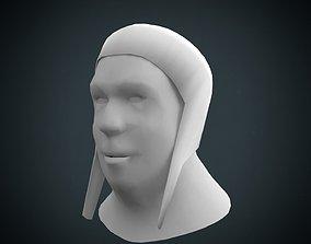 Medieval Coif 3D asset