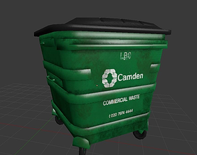 London Garbage Bin 3D asset