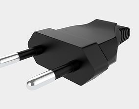 3D Power Cable 2-pin Plug