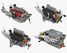3D model Ferrari Classic Engine Pack
