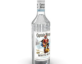 Captain Morgan White 70cl Bottle 3D