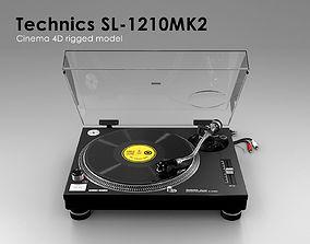 Technics SL-1210MK2 - Rigged 3D