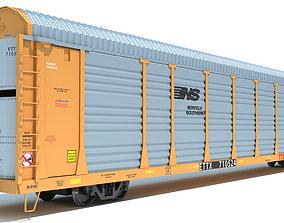 3D model Auto Carrier Rail Car auto