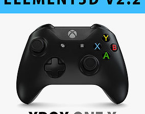 E3D - XBox One X Controller Black 3D model