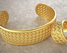 Weave ring and weave bracelet 3D printable model